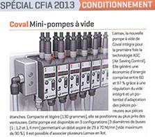 Integrated mini vacuum pump with
